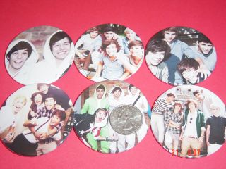 One Direction Harry Styles New Set of 18 Large 2 1 4 Buttons Pins