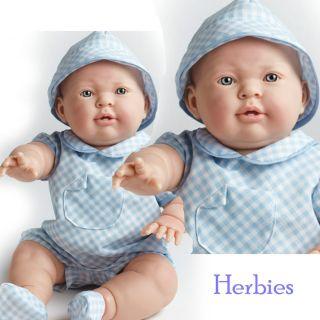 Berenguer Lucas, Anatomically Correct 18 Full Vinyl Baby Boy, Blue