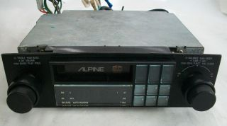 VINTAGE ALPINE 7166 CAR STEREO TUNER CASSETTE TAPE DECK SHAFT STYLE