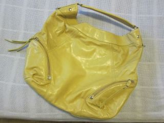 Marc New York by Andrew Mark Extra Large Yellow Leather Tote Hobo Bag