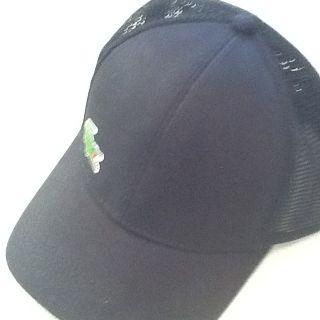 Black Lacoste Sport Andy Roddick Mesh Hat Cap