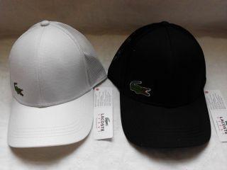 Lacoste Croc Logo Trucker Cap Hat White or Black Andy Roddick