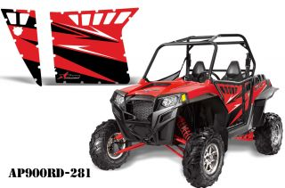 AMR Racing Graphic Decal Kit Pro Armor Doors Polaris RZR 900XP 900 XP