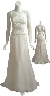 Angel Sanchez Silk Organza Wedding Bridal Gown 6 New