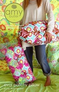 amy butler oval patchy pillow cushion sewing pattern