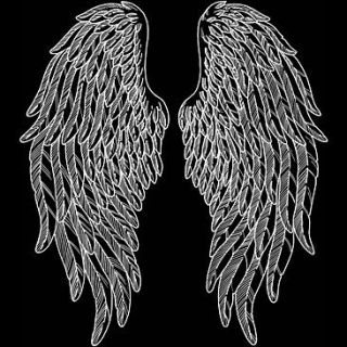 Angel Wings Biker Gothic Hoodie Black Hooded Sweatshirt Bonus Harley