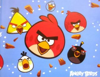 New Angry Birds Gift Wrap Party 16 Sheets Wrapping Paper
