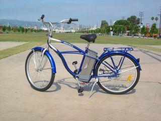 Angell 500W 36V Hub motor Midnight Blue Electric Beach Cruiser Bike