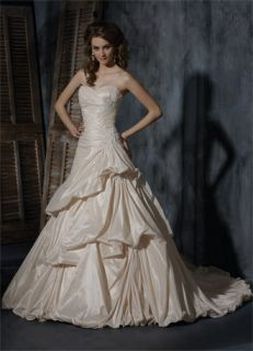 New Maggie Sottero Andrea S5275 Wedding Bridal Dress Gown Light Gold