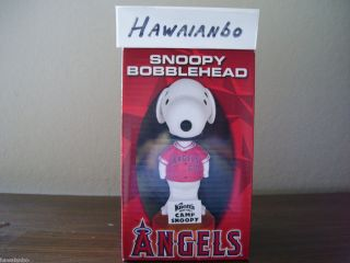 Anaheim Angels Snoopy Knotts Berry Farm Camp Snoopy Bobblehead SGA New