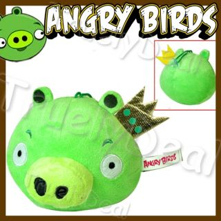 Angry Birds King Green Pig 5Dangle Doll Soft Plush Toy
