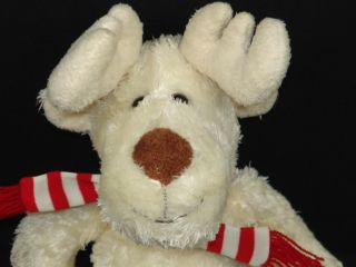 Animal Adventure Christmas Scarf Moose Reindeer Stuffed Animal Toy