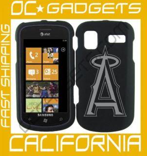 Anaheim Angels MLB Black Cover Case Samsung Focus I917