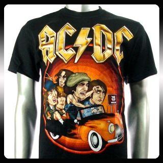 AC DC Angus Young Heavy Metal Rock Punk T Shirt Sz XL