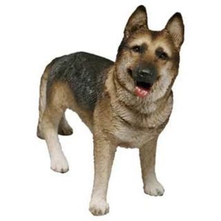 German Shepherd Dog Statue Mid Size Figurine Sculpture