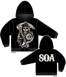 Sons of Anarchy Grim Reaper Hoodie SOA SAMCRO Hoodie sweat Shirt Small