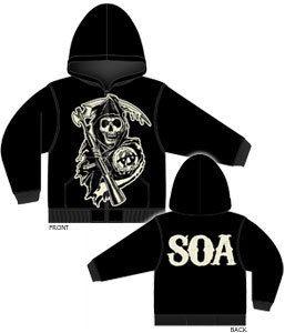 Sons of Anarchy Grim Reaper Hoodie SOA SAMCRO Hoodie sweat Shirt Small