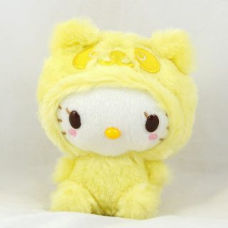 Sanrio Panda Hello Kitty Plush Stuffed Toy Yellow 5 5 14cm