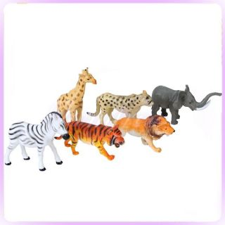 Vivid Wild Animals Figurines Plastic Toy Model Figure