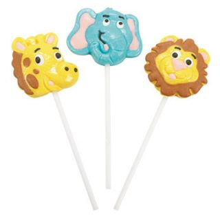 Jungle Zoo Safari Animal Pops Suckers Party Favors