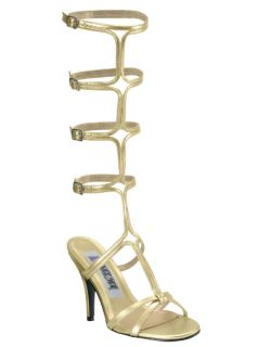 USA Halloween Costume Gladiator Greek Goddess Gold Sandal Heels