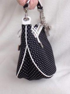BEBE Bag Purse Handbag Satchel Pocketbook Polkadot