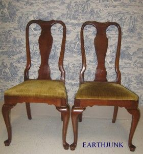 Ethan Allen Sheffield Georgian Court Cherry Queen Anne 6211 Chairs