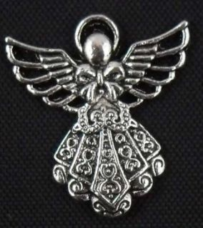 Free SHIP 60pcs Tibetan Silver Angel Charms 26x24mm