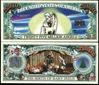 Lot of 100 Nativity Angel Novelty Million Dollar Bills