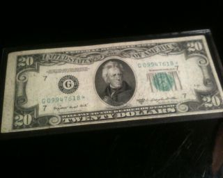1950 C ANDREW JACKSON 20 DOLLAR BILL FEDERAL NOTE US CURRENCY SMALL