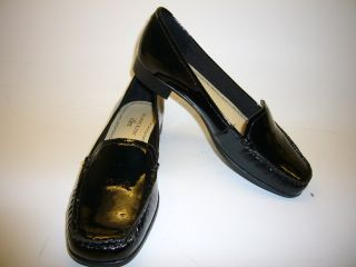 New AK Anne Klein Vama Black Patent Man Made Upper 1 Soft Upper