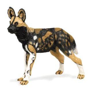 African Wild Dog Mini Vinyl Animal Acion Figure New