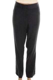 Anne Klein New Navy Wide Waist Band Slim Dress Pants 10 BHFO