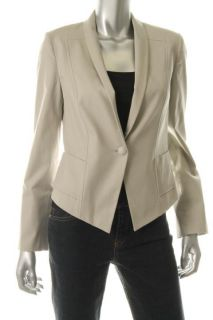 Anne Klein New Gray Shawl Collar Two Pocket One Button Blazer Jacket