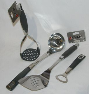 Anolon Advanced Tools Contemporary Stainless Steel Kitchen Utensil Set
