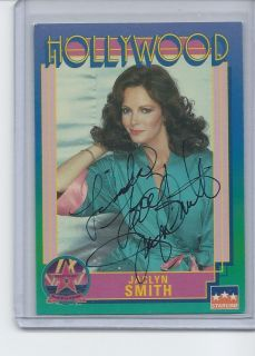 Jaclyn Smith Autographed Hollywood Walk Of Fame Card Charlies Angels