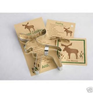 New Ann Clark Tin Moose Cookie Cutter w Recipe Card US