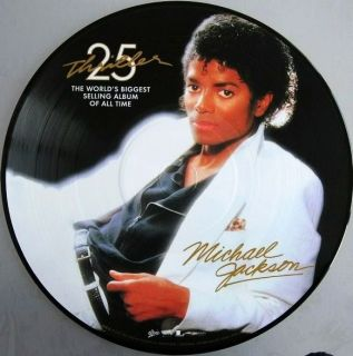 Michael Jackson Thriller 25th Ann Picture Disc RARE LP