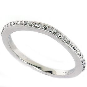 17ct 14k White Gold Diamond Wedding Anniversary Ring