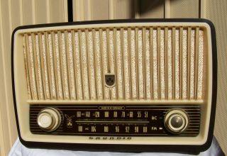 Vintage Grundig Majestic Tube Radio 1956