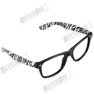 Retro Style Zebra Animal Prints Glasses Large Big Frame Party