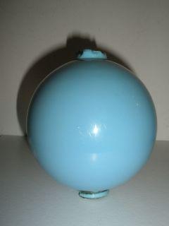 Antique Light Blue Milk Glass Lighting Rod Glass Ball
