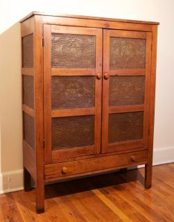 Antique Pie Safe 12 Tin Walnut 1850 1899