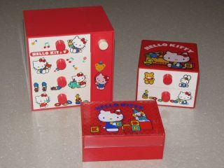 Vintage Sanrio Hello Kitty jewelry/storage boxes   Set of 3