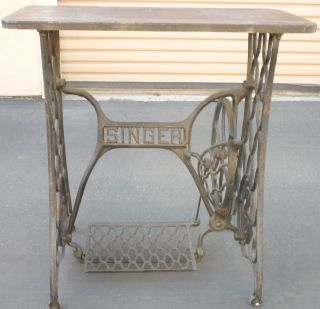 Antique Table Converted from Singer Sewing Machine Frame