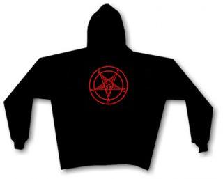 Baphomet Pentagram Hoody Black Metal Satan Anton Lavey
