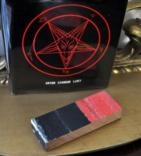 Satanic Relic Church of Satan COS Anton lavey Temple Wood Black House