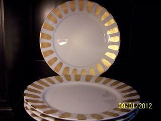 Sonoma APILCO FRANCE Christmas Gold Chop Plate Charger Dinnerware