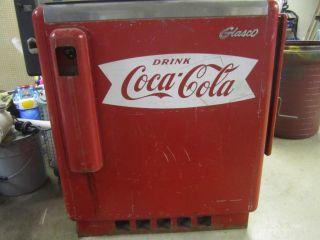 vintage glasco gbv 50 coke cola vending machine