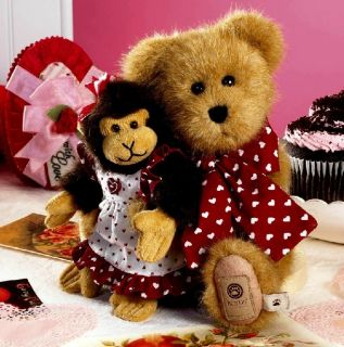 Boyds Bears Bear of the Month Plush   2/11 Heartley w/Julia NEW w/tag